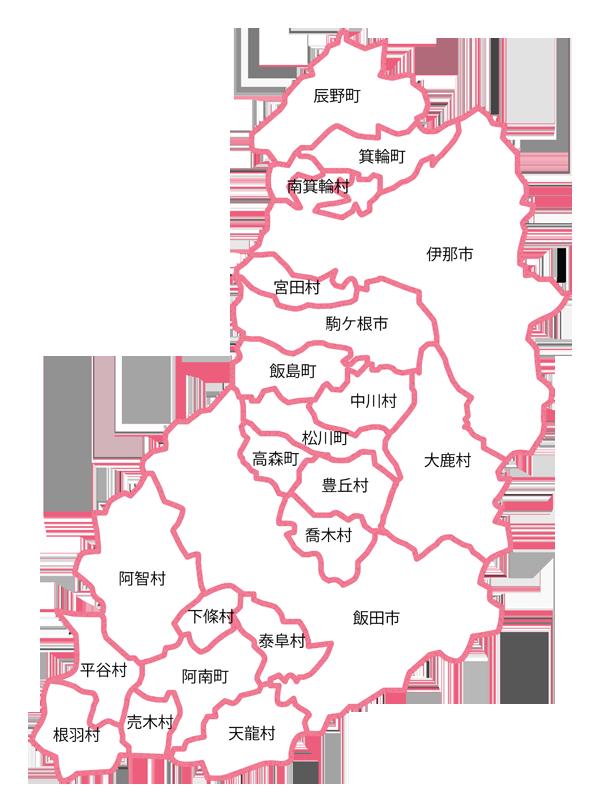 南信地区地図