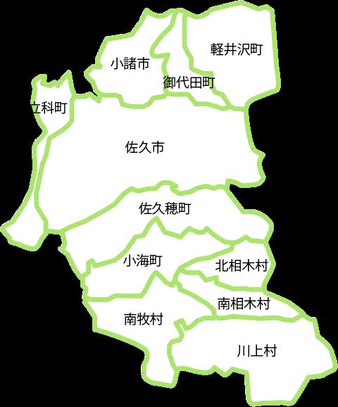 佐久地区地図