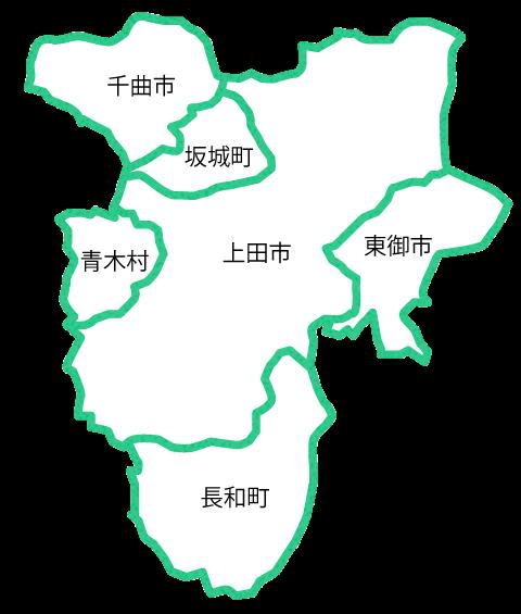 上田地区地図