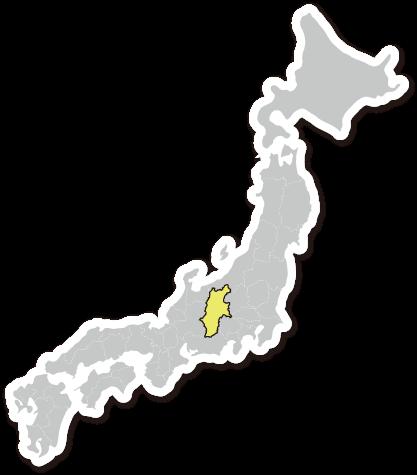 日本地図の長野県の位置